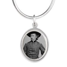 George A. Custer Silver Oval Necklace