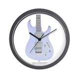 """Neon Sky"" Guitar Wall Clock"