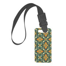 Elegant Aqua and Orange Phone Ca Luggage Tag