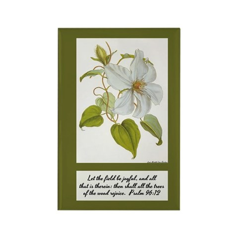 Constans Clematis Painting - Insp Rectangle Magnet
