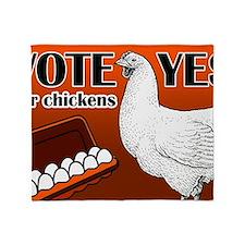 chicken-sign Throw Blanket