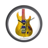 """Refl. Yellow"" Guitar Wall Clock"