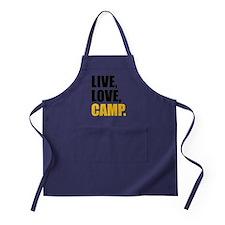 live love camp Apron (dark)