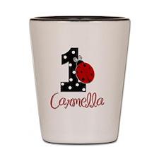 1st Birthday Ladybug - CARMELLA Shot Glass