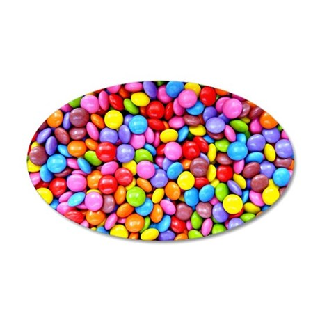 Colorful Candies 35x21 Oval Wall Decal