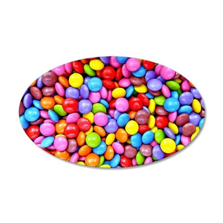 Colorful Candies 20x12 Oval Wall Decal