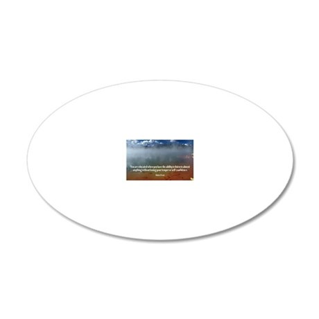 271-Frost: Educated 20x12 Oval Wall Decal