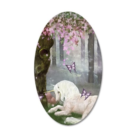A Unicorn of Velventera 35x21 Oval Wall Decal