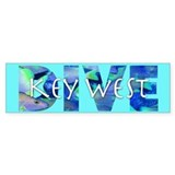 Dive Key West Bumper Bumper Sticker