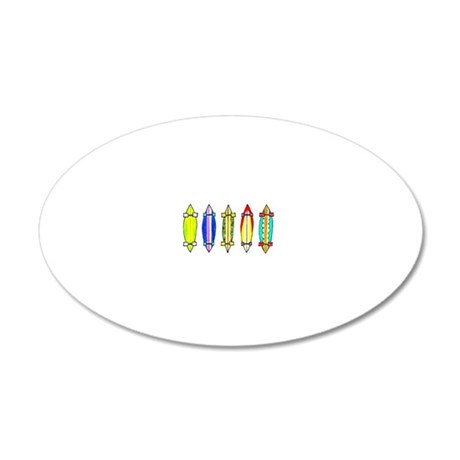 The crazy 5 20x12 Oval Wall Decal