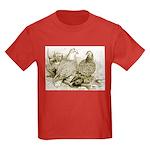 Frillback Pigeons Kids Dark T-Shirt