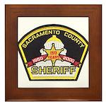 Sacramento County Sheriff Framed Tile