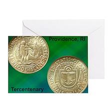 Providence RI Tercentenary Half Doll Greeting Card