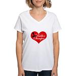 Rubber Stamper - Heart Women's V-Neck T-Shirt