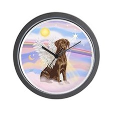 ORN - Clouds - Lab Angel (Choc) Wall Clock
