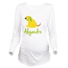 Alejandro Loves Pupp Long Sleeve Maternity T-Shirt