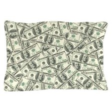 100 Dollar Bill Money Pattern Pillow Case