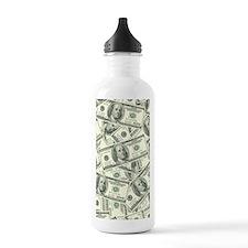 100 Dollar Bill Money  Sports Water Bottle