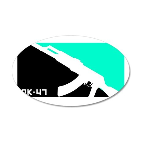 AK-47 Shirt 35x21 Oval Wall Decal