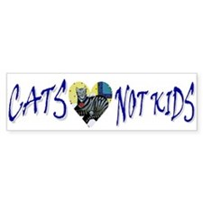 Cats, Not Kids Bumper Bumper Sticker