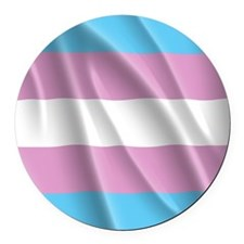 TRANSGENDER FLAG Round Car Magnet