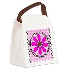 retired nurse gingham pink Canvas Lunch Bag