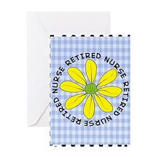 retired nurse gingham Greeting Card