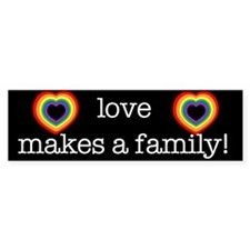Love Makes A Family Bumper Bumper Sticker