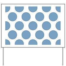 Soft Blue Polkadot Yard Sign
