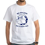 Bulldog's Happy Face White T-shirt