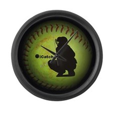 iCatch Fastpitch Softball Large Wall Clock