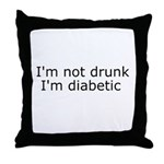Diabetic Info Throw Pillow