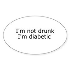 Diabetic Info Oval Bumper Stickers