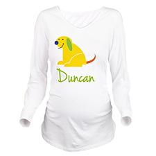 Duncan Loves Puppies Long Sleeve Maternity T-Shirt