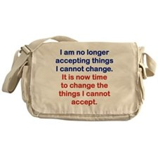 I AM NO LONGER ACCEPTING THINGS I CA Messenger Bag