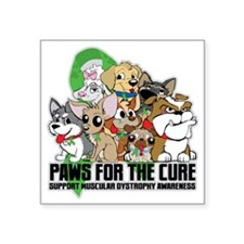 "Muscular Dystrophy Puppy Gr Square Sticker 3"" x 3"""