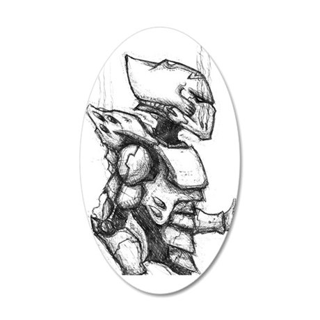 Space Elf Armour 35x21 Oval Wall Decal