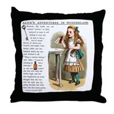 Alice in Wonderlan Drink Me Throw Pillow