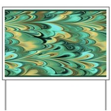 3x5 Green and Gold Marbled Yard Sign