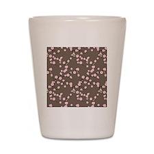 Short Pink Cherry Blossom Branches onTa Shot Glass