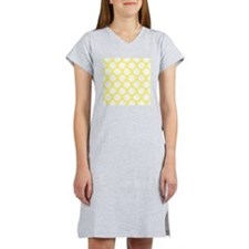 Bright Yellow Polkadot Women's Nightshirt