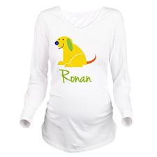 Ronan Loves Puppies Long Sleeve Maternity T-Shirt