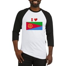 I love Eritrea Flag Baseball Jersey