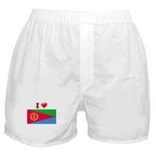 I love Eritrea Flag Boxer Shorts