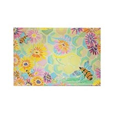 Bumble Bee Paradise Rectangle Magnet