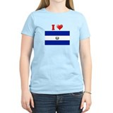 I love El Salvador Flag T-Shirt