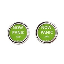 Now Panic and Freak Out Poster (Green) Cufflinks