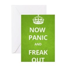 Now Panic and Freak Out Poster (Gree Greeting Card