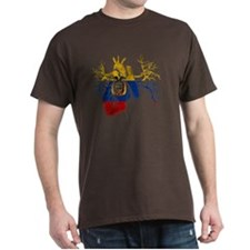 Ecuador Flag in Real heart T-Shirt