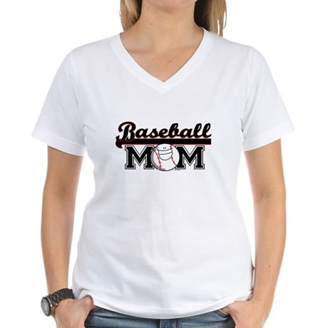 Baseball mom Women's V-Neck T-Shirt